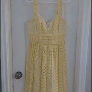 Yellow Lace Dress by Shoshanna